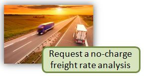 Request a no-charge freight rate analysis