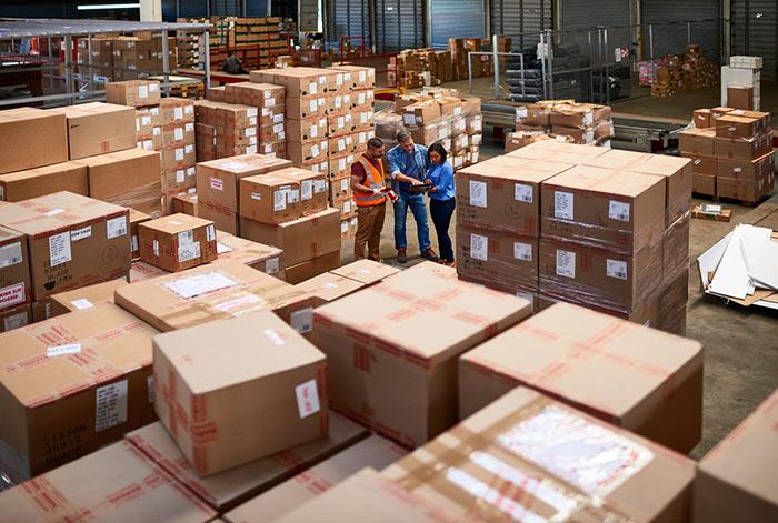 Crowded warehouse