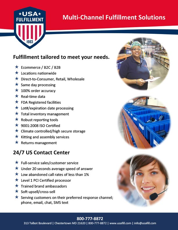 USA Fulfillment Services Summary Download